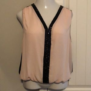 Size medium 2B bebe sequin sleeveless top
